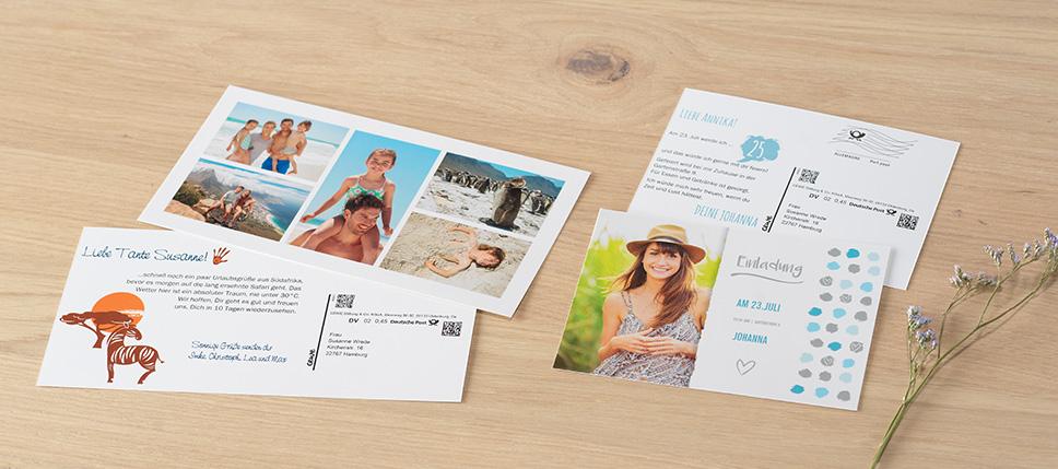 Postkarten mit Direktversand