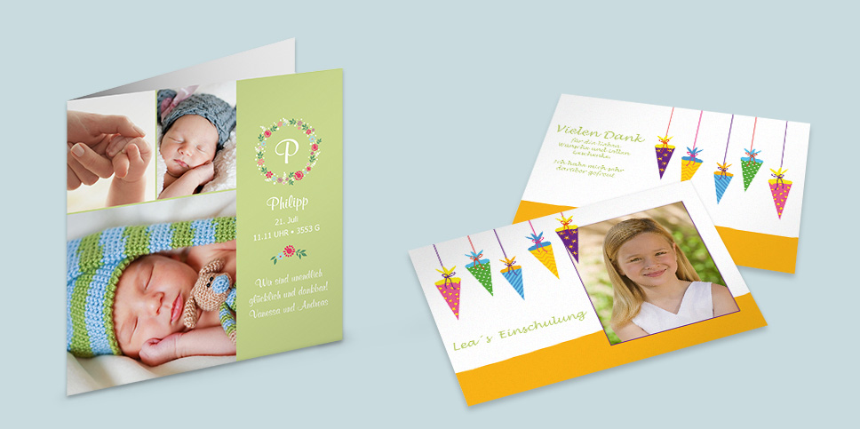 Einladungen, Grußkarten & mehr