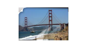 Strand der Golden Gate Bridge