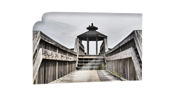Idyllische Seebrücke