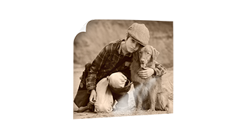 Junge mit Hund