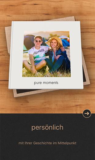 Die CEWE FOTOBUCH Pure App - persönlich