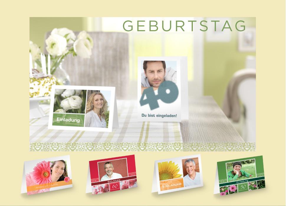 Einladungskarten Gestalten. Geburtstag