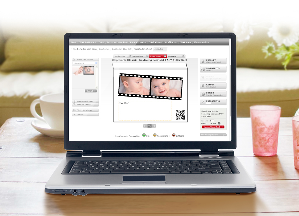 4. Video hochladen und auf der Karte platzieren, ein individueller QR-Code wird generiert.