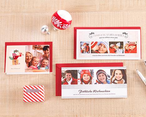 Weihnachtskarten online gestalten cewe fotoservice - Weihnachtskarten selbst gestalten mit foto ...