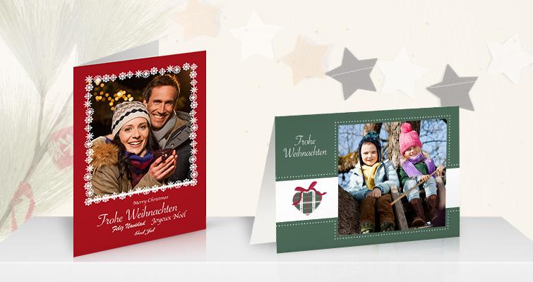 weihnachtskarten mit foto online gestalten onlinefotoservice. Black Bedroom Furniture Sets. Home Design Ideas