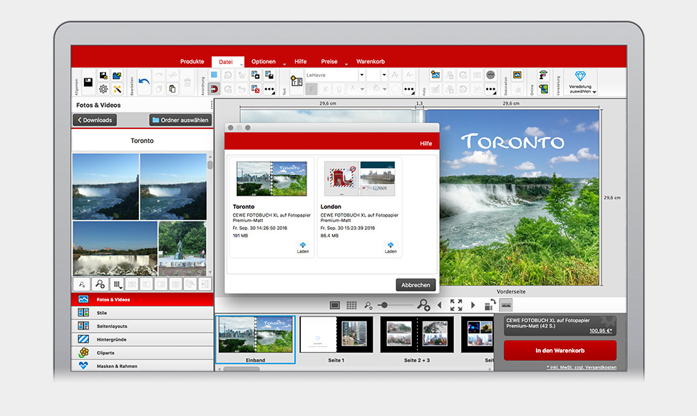 Projekte online speichern